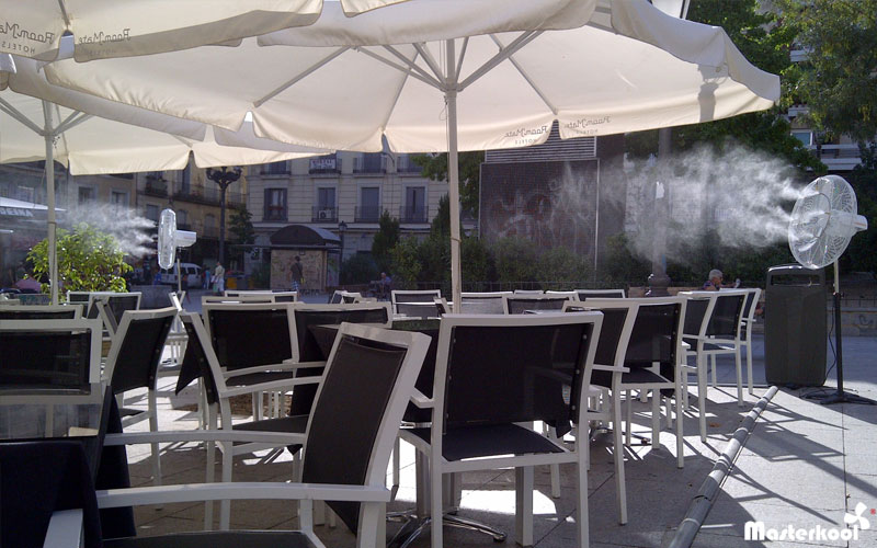 Ventiladores con agua pulverizada - Nebulizadores para terrazas baratos ...