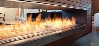 chimenea a gas decorativa sunwood marino para terrazas - Chimenea Bioetanol