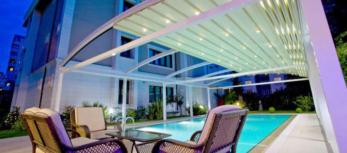Suntech p rgola retr ctil y sistemas de techo - Techos retractiles para terrazas ...