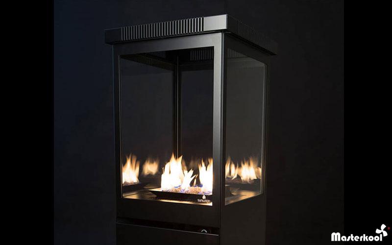 Calefacci n de terrazas con llama estufa decorativa a - Estufas electricas para terrazas ...